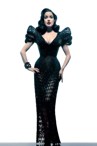 3D-diseño-vestido- Dita von Teese