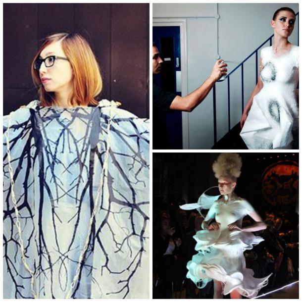 Collage moda y tecnología